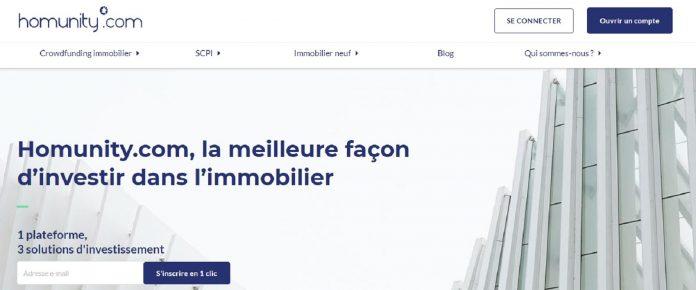 Homunity: plateforme de crowdfunding spécialisée dans l'immobilier
